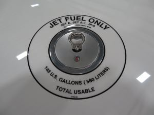 Fuel cap on the Cirrus Vision SF50 Jet, photo credit wikiWings