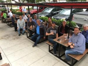 Aviators enjoying fellowship and lunch, Houston, Texas