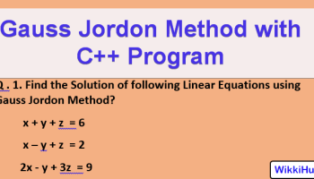 gauss jordon method c c++ program