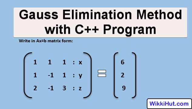 Gauss Elimination Method C++ Program Algorithm & Example
