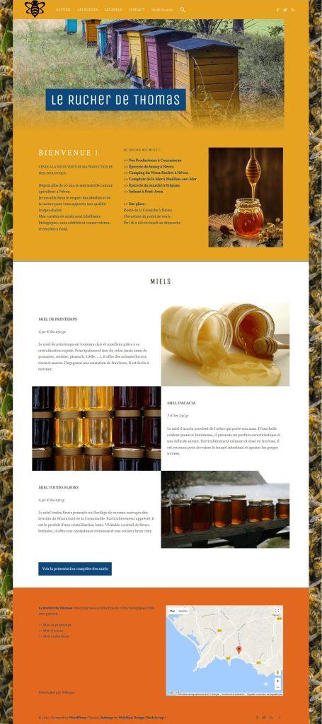 Nouveau site web d'un apiculteur