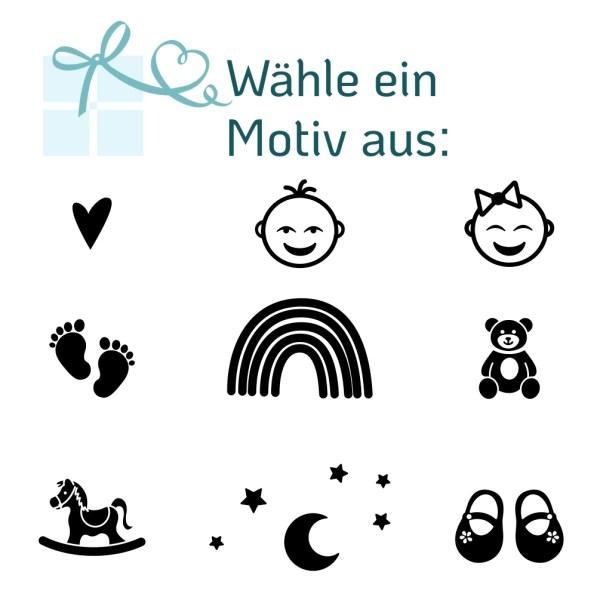 Geburtsdaten-Holzwimpel - Motive