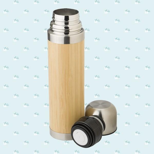 Thermosflasche Fotomontage quadratisch