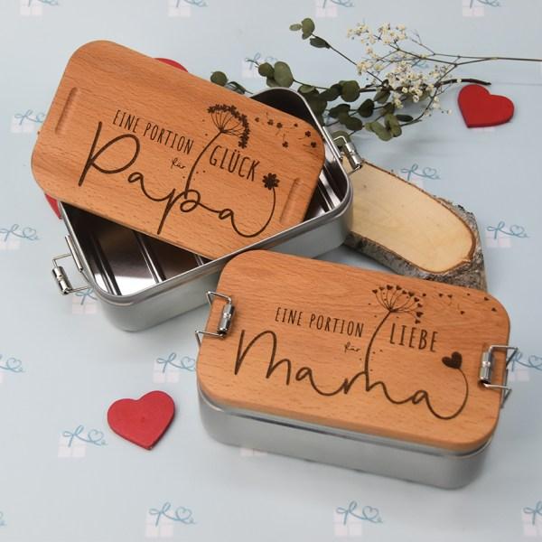 Lunchbox - Eine Portion Liebe für Mama - 2er Bild mit Papa