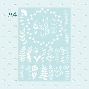 Blumen A4 - Fotomontage