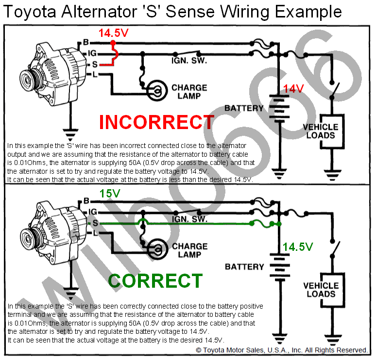 toyota 4 pin alternator wiring diagram