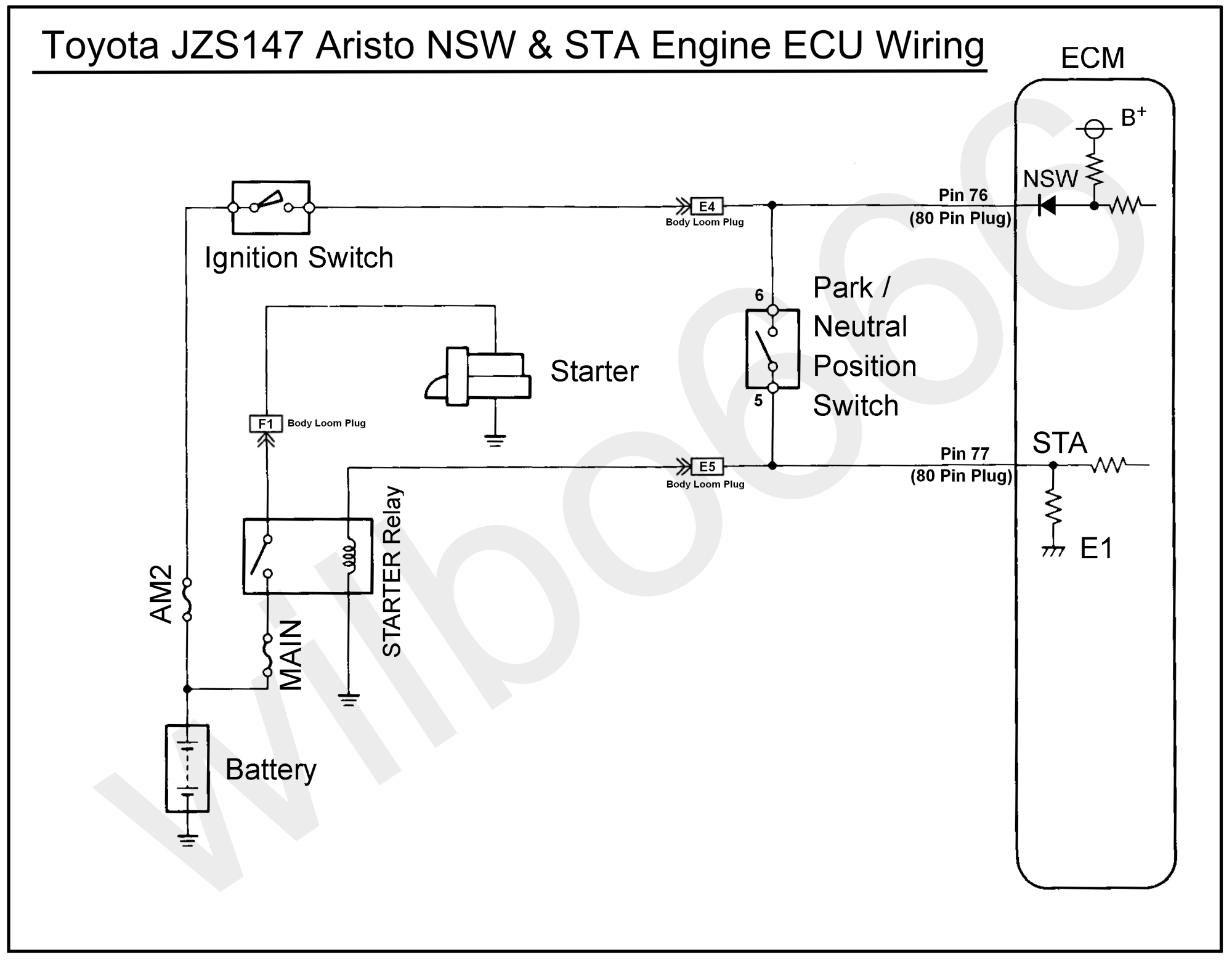 hight resolution of jzs147 toyota aristo 2jz gte nsw sta wiring diagram