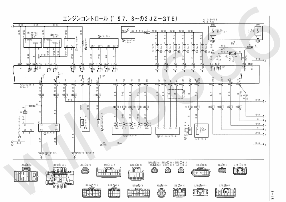 medium resolution of jza80 toyota supra 2jz gte vvti wiring diagrams