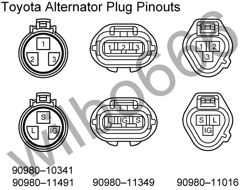 medium resolution of toyota alternator diagram wiring diagrams source 85 toyota alternator wiring diagram toyota forklift alternator wiring diagram