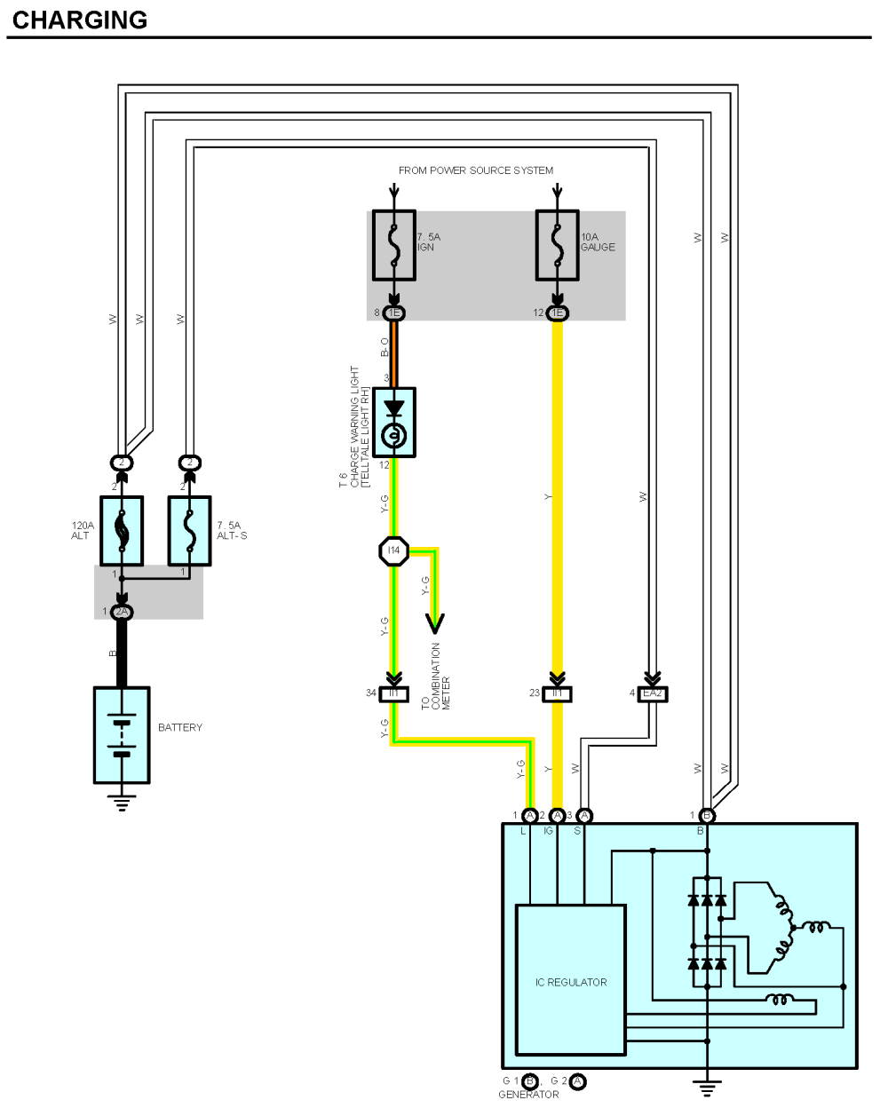 medium resolution of the below wiring diagram taken from the jza80 tsrm shows the general wiring arrangement for alternators with inbuilt regulators