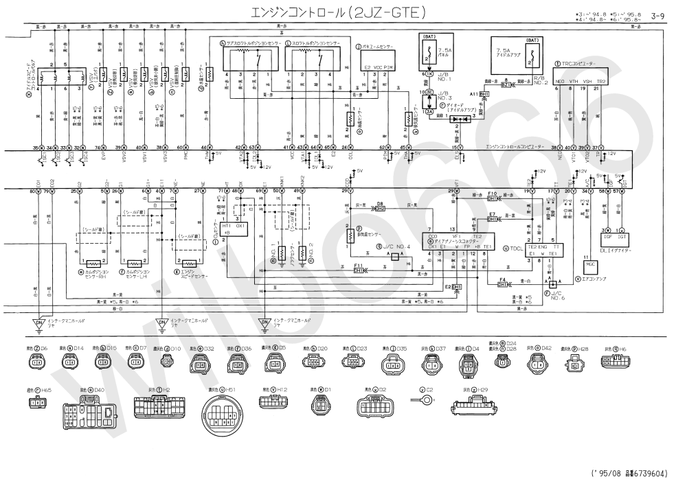 medium resolution of wilbo666 2jz gte jzs147 aristo engine wiring subaru wiring harness diagram ecu wiring diagram