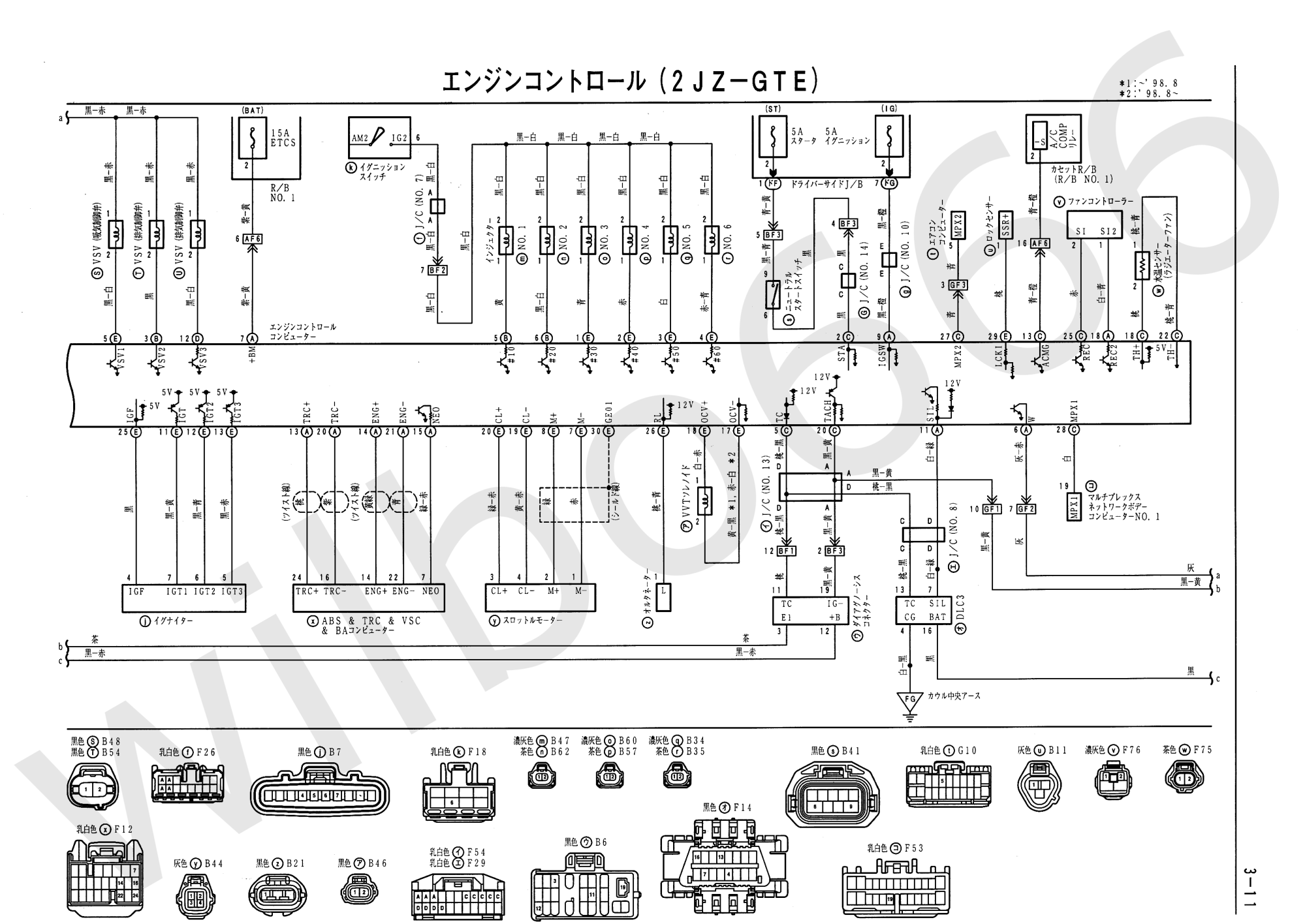 hight resolution of wilbo666 2jz gte vvti jzs161 aristo engine wiring 2006 mitsubishi eclipse ecu diagram jzs161 toyota aristo