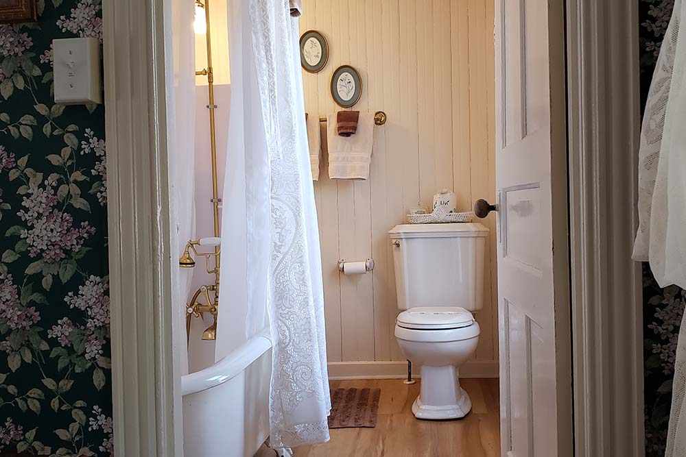 Room 1 bathroom, The Wilbraham Mansion & Suites Boutique Hotel, Cape May, NJ