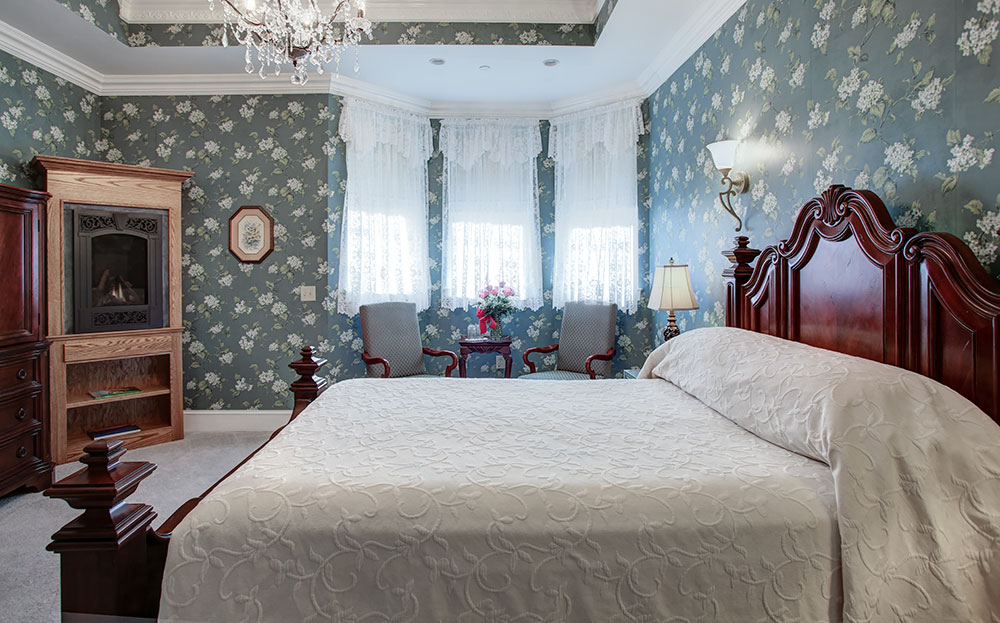 Suite 101 Fireplace, The Wilbraham Mansion & Suites Boutique Hotel, Cape May, NJ