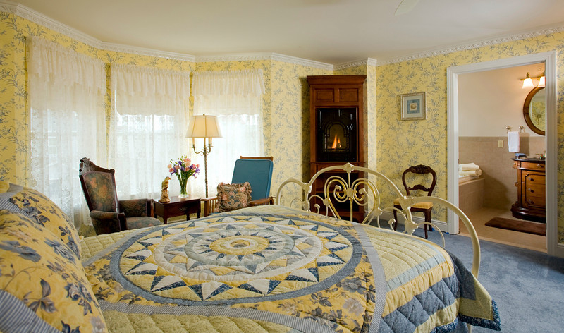 Suite 206 Fireplace, The Wilbraham Mansion Bed & Breakfast, On the Jersey Shore