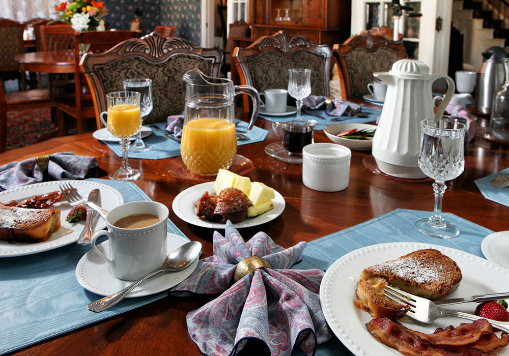 French toast in The Wilbraham Mansion & Suites, Jersey Shore, Cape May New Jersey