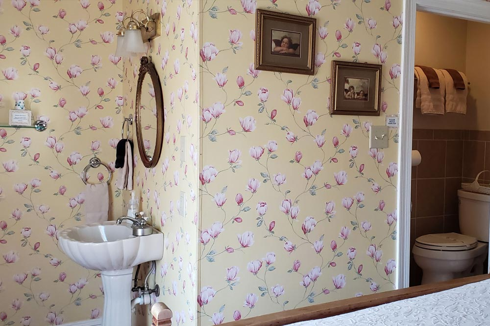 Room 5 bathroom, The Wilbraham Mansion Bed & Breakfast, On the Jersey Shore