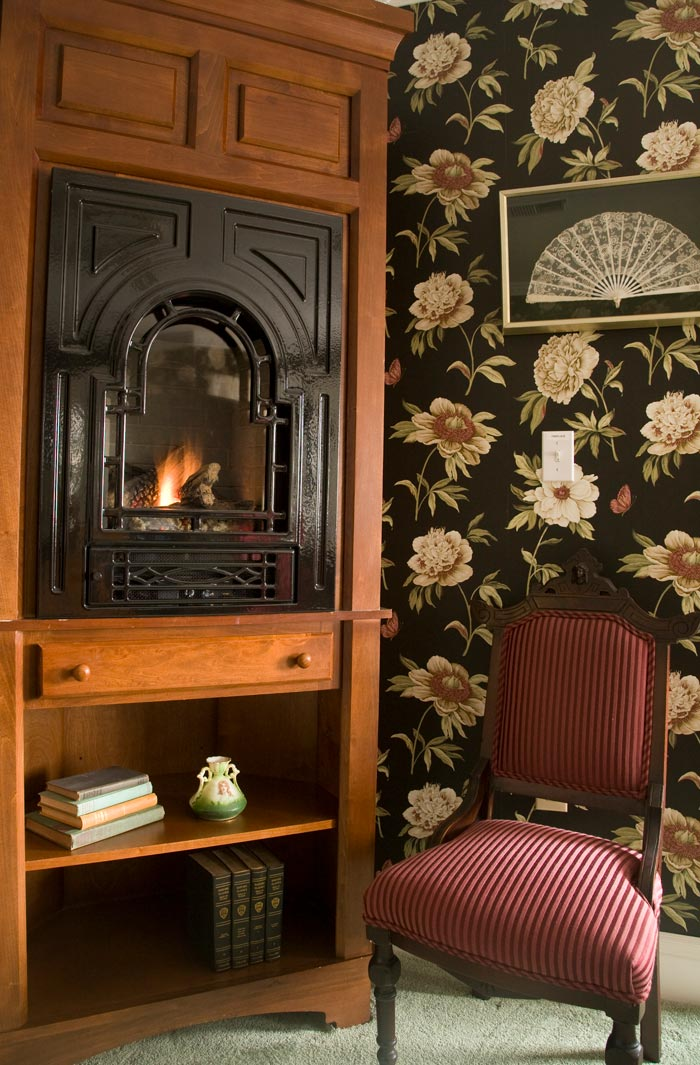 Fireplace The Wilbraham Mansion & Suites Boutique Hotel, Cape May, NJ