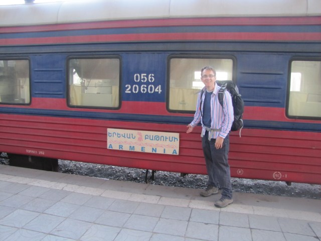 Wilbur Arrival By Train, Yerevan, Armenia From Batumi, Georgia