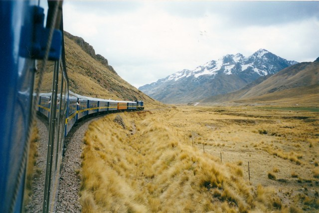 The Train Winds Its Way Towards Cusco From Puno, Peru