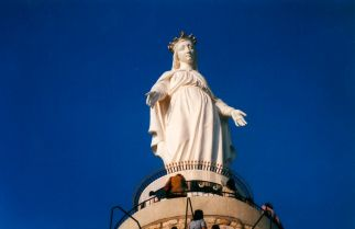 Virgin Mary Statue, Our Lady of Lebanon, Harissa Mountain, Jounieh Near Beirut