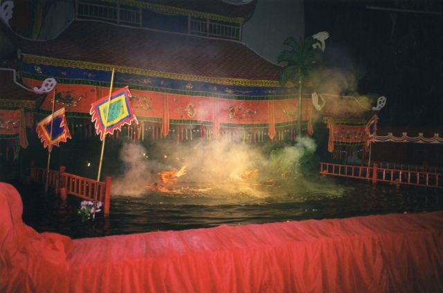 Fire-Breathing Dragons Do Battle At Hanoi's Water Puppet Theatre