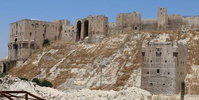 The Damaged Aleppo Citadel, Syria