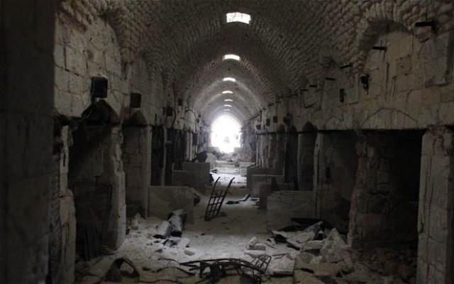 Damaged Souk, Aleppo, Syria