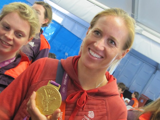 Helen Glover with Gold