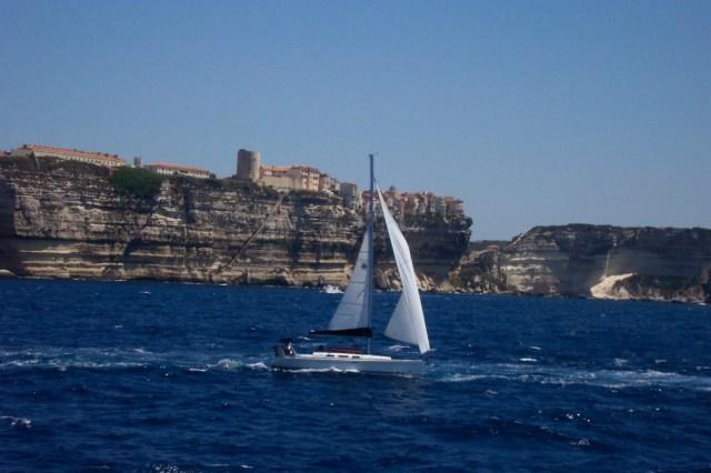 Arriving in Bonifacio, Corsica from Sardinia
