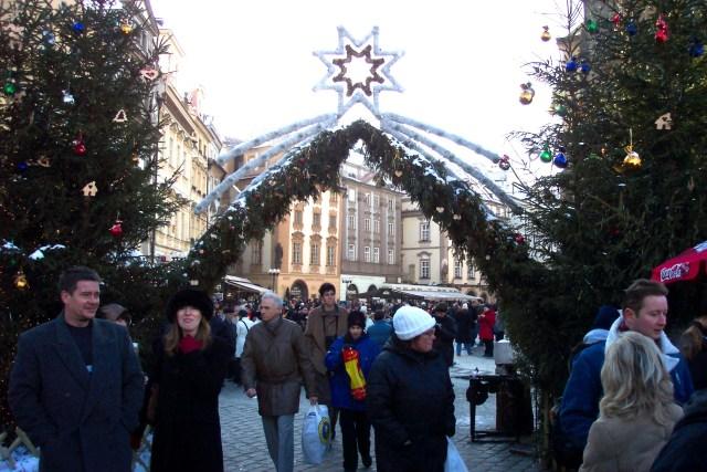 Christmas market entrance, Prague