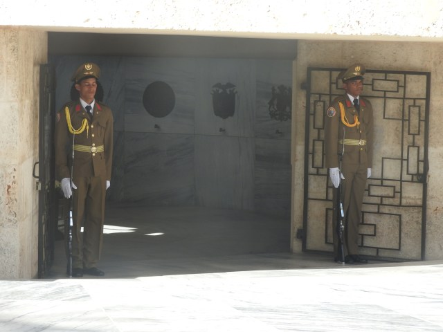 Guards at the Mausoleum of Cuba's national hero Jose Marti, Santiago de Cuba