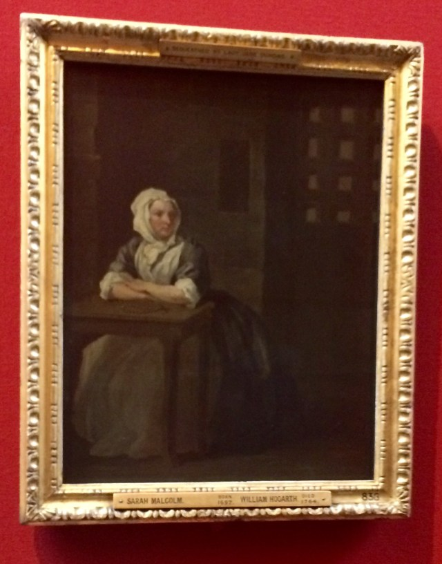 Portrait of Sarah Malcolm completed two days before she hanged at Newgate Prison, Scottish National Gallery, Edinburgh