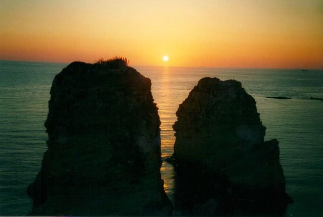 Sunset Over Pigeon Rocks, Beirut