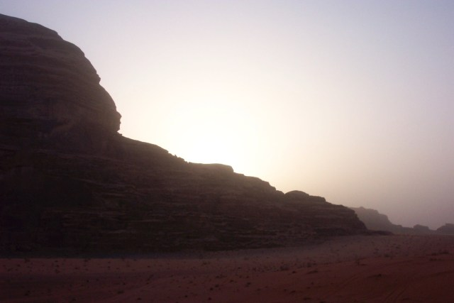 Sun Rising Wadi Rum