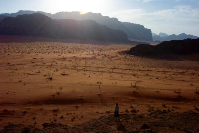 Sun Setting Wadi Rum, Jordan