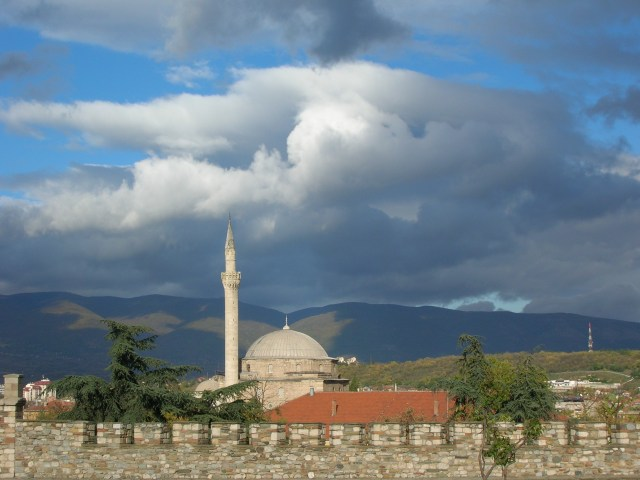 Skopje Castle & Mosque in 2006