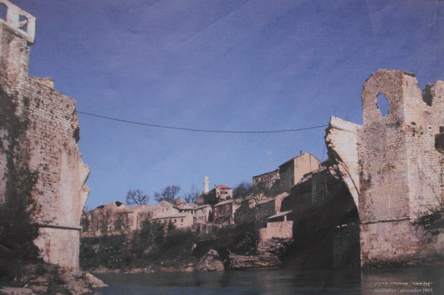 The Ottoman Bridge In Mostar Was Destroyed By Bosnian-Croat Forces