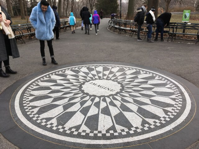 Imagine Memorial, Strawberry Fields, Central Park, New York