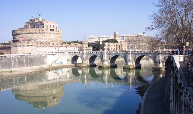 Bridge over the River Tiber between Rome & The Vatican
