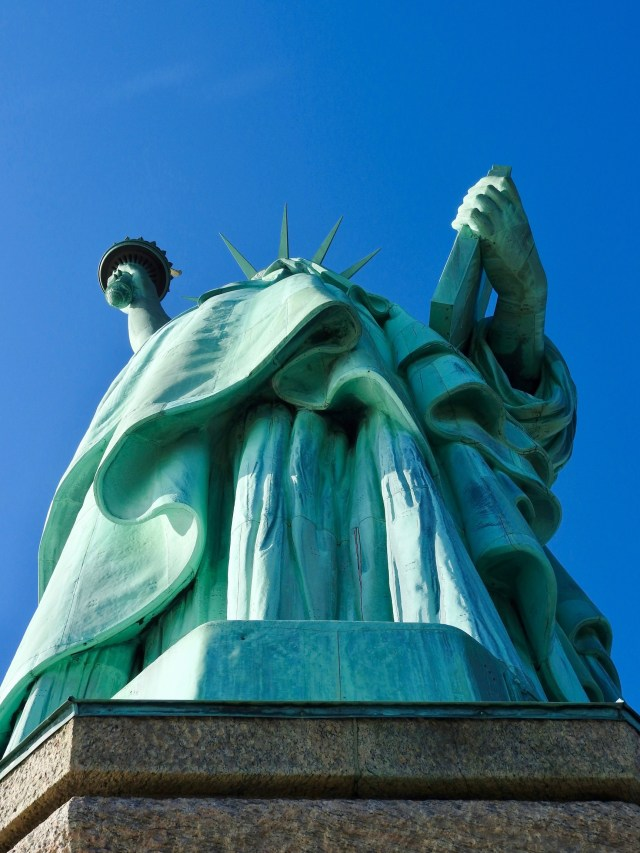 Rear of Statue of Liberty, New York