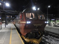 Our train from Trondheim to Fauske, Norway