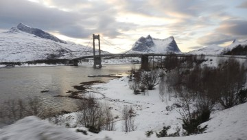 Scene on the bus journey from Narvik to Tromso, Norway