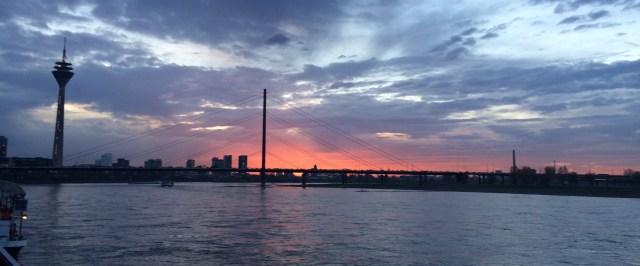 The Rhine River, Düsseldorf, Germany. December 2016.