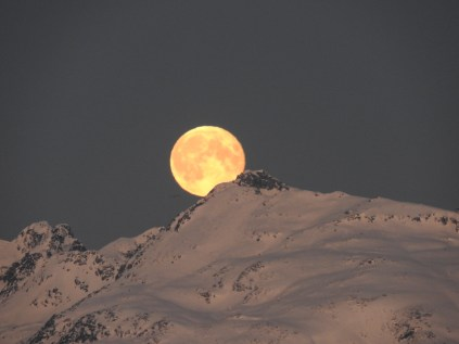 Morning Moon, Tromso, Norway