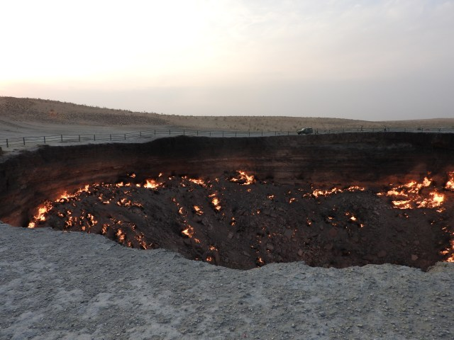The Darvaza Gas Crater, Turkmenistan