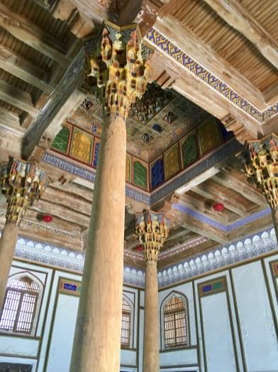 Carved Columns and Ceiling, Juma Mosque, Bukhara, Uzbekistan
