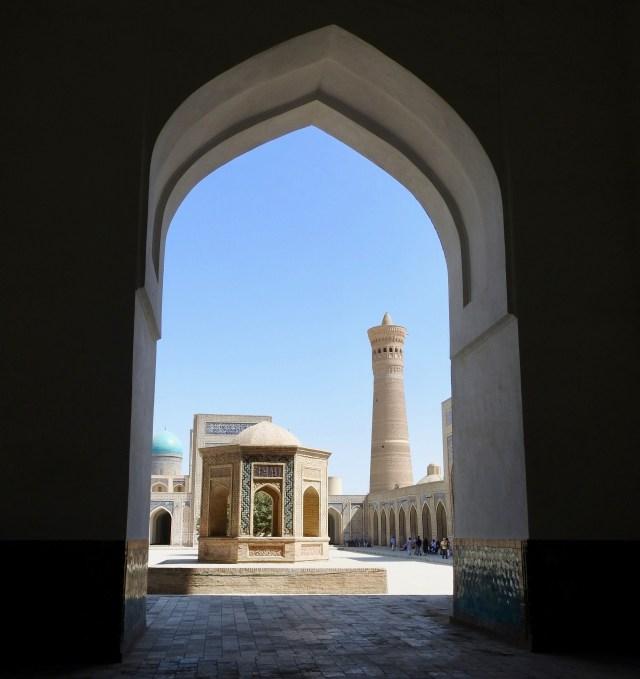 Kalon Minaret from Inside the Kalon Mosque Courtyard