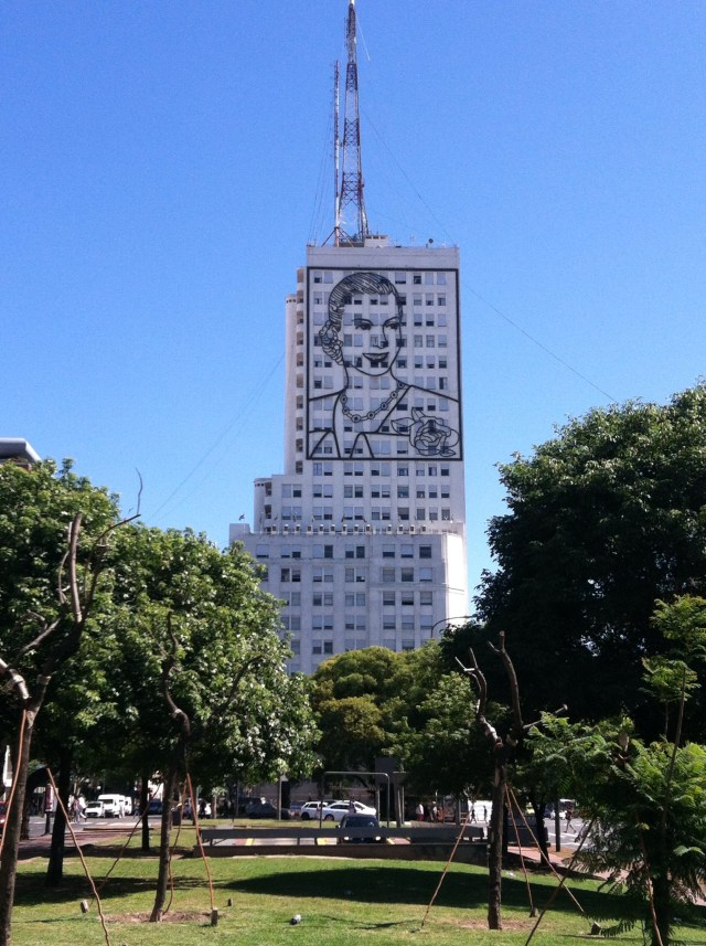Eva Peron Portrait, Avenida 9 de Julio