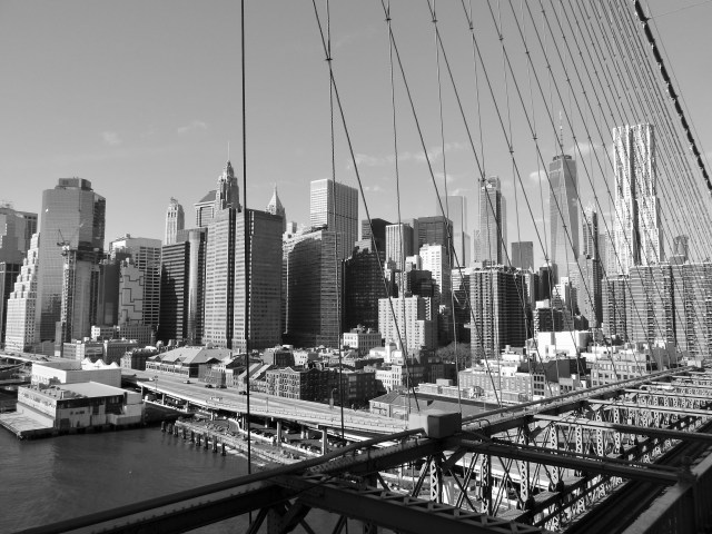 View from the Brooklyn Bridge, New York